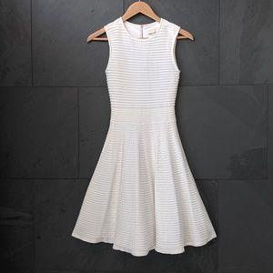 TED BAKER White Knit Skater Dress